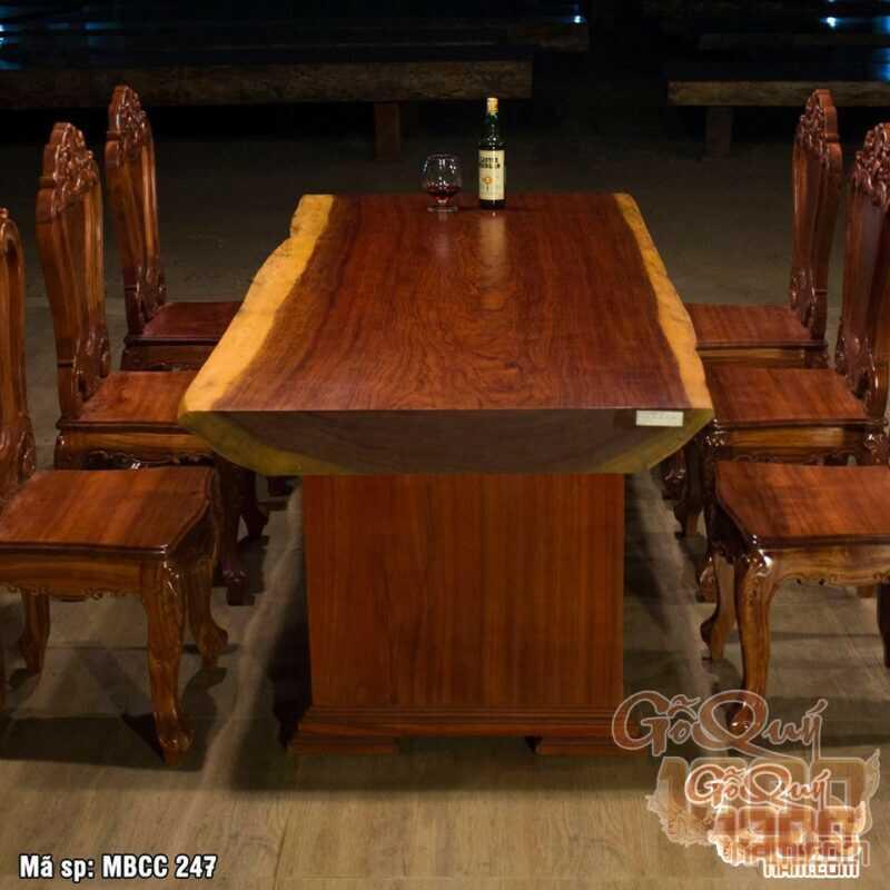 Bàn ghế gỗ cẩm tự nhiên nguyên tấm – đẳng cấp- sang trọng