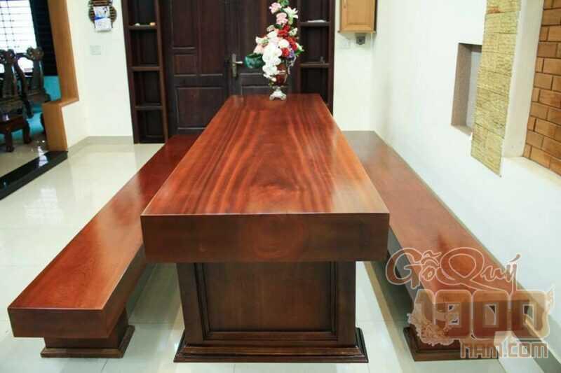 Mẫu bàn ghế gỗ 3 tấm cho phòng khách hiện đại
