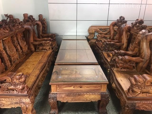 Bộ nghê gỗ cẩm 10 món – vip