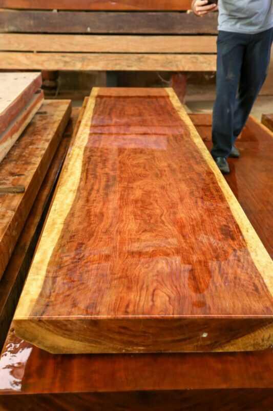 Mặt bàn Cẩm Chỉ 75x12x322