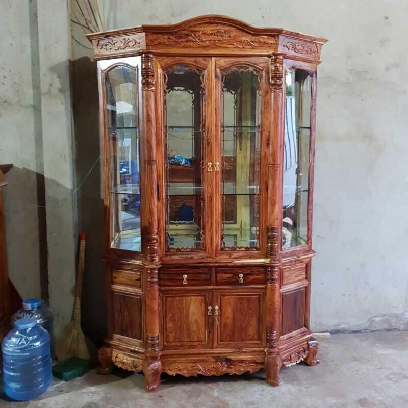 Tủ rượu gỗ cẩm chỉ – Hala
